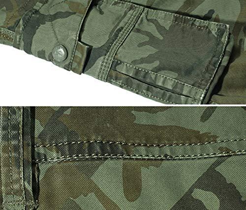 Panegy Adultes Combat Shorts pour Homme/Garçon Coton Bermudas Treillis Militaire Cargo Armée Pantalon de Travail… 5