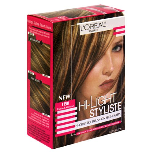 Hi-Light Styliste Hi-Control Brush-On Highlights, Toasted Almond H50 (Pack of 2)
