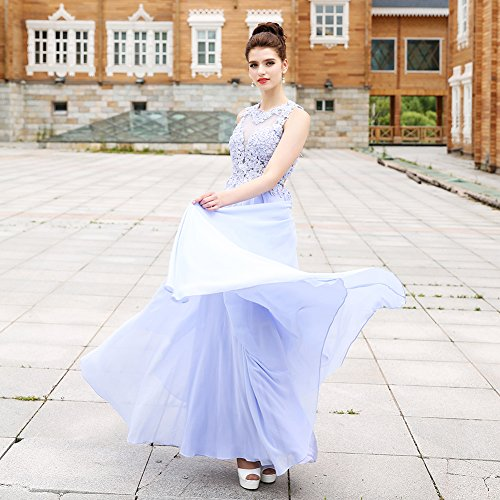 Formal Dresses In Memphis Tn: HONGFUYU Gorgeous A-Line High Neck Lace Formal Prom Dress