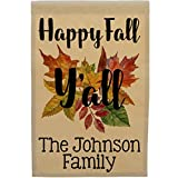 Happy Fall Y'all Personalized Autumn Garden Flag, Customize Your Way, Flag Only