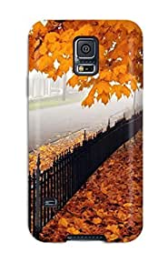 Brooullivan Galaxy S5 Well-designed Hard Case Cover Stunning Autumn Leaves Protector