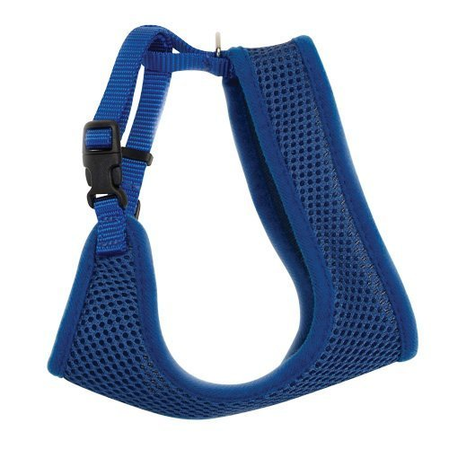 (Coastal Pet Comfort Soft Adjustable Cat Mesh Harness, Blue, 14
