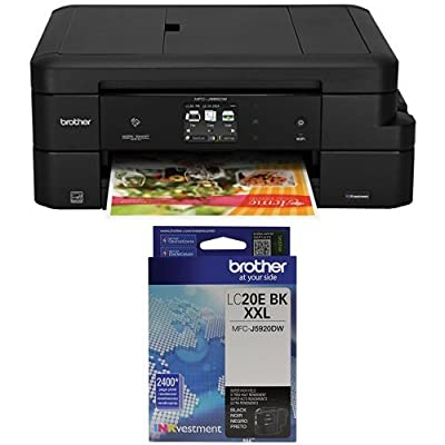 Brother MFC-J985DW Work Smart All-in-One with INKvestment Cartridges and Brother LC20EBK Super High Yield Black Ink Cartridge Bundle