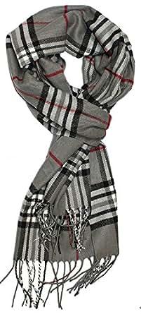 Sungpunet Classic Cashmere Feel Men's Winter Scarf in Rich Plaids