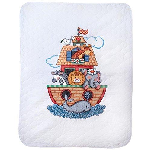 Tobin Noah's Ark Baby Quilt - Stamped Cross Stitch Kit T2171