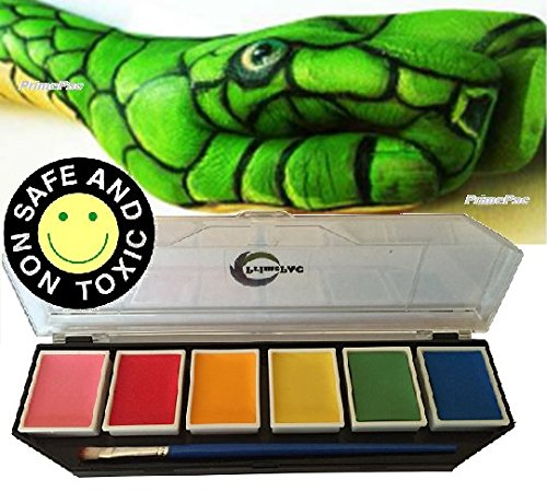 Face Painting & Body Paint. Great Makeup Kit for School, Halloween, Birthday, Dress Up Games, Cosplay. Drawing Arts Crafts Educational Toys. Creative Fantasy without limits. Great Coverage on Skin