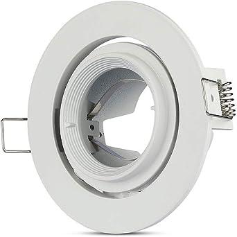 V Tac Oriental Aluminium Factory Gu 10 White Colour Vt 700 3690 3689 Beleuchtung