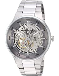 Kenneth Cole New York Mens Auto Automatic Stainless Steel Dress Watch, Color:Silver-Toned (Model: KC14981005)