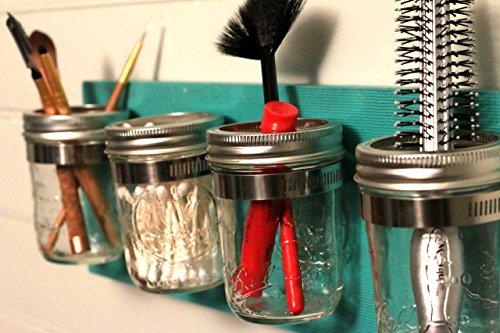 Mason-Jar-Organizer-Bathroom-Storage-Mason-Jar-Decor-Mason-Jar-Bathroom-Set-Bathroom-Organizer-Shabby-Chic