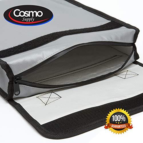 Organizer- Fireproof Document Bags - Silicone - Case - Money Bag - Document Holder - Money - Jewelry - Passport Holder - Photo Album - Safe - Storage - Waterproof - LIPO Battery - Fireproof Safe -