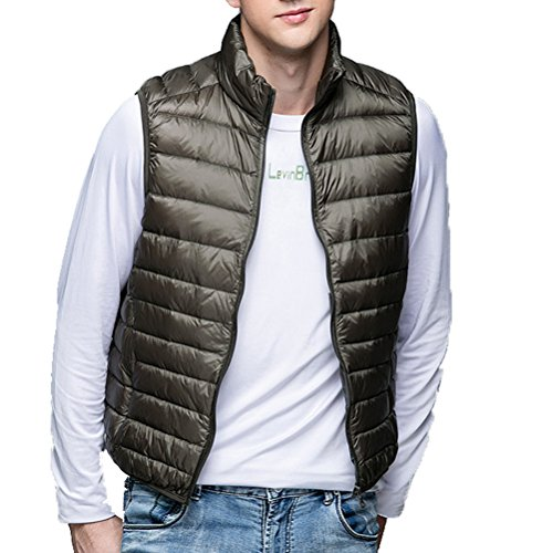 Thin Leightweigth Vest Sleeveless Cappotti Men's Short Laixing Outerwear Down Black Jackets Zipper a8q6xwa