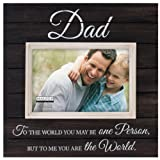 Malden International Designs Sun Washed Woods Dad Distressed Black Picture Frame, 4 by 6-Inch