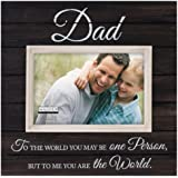Malden Sun Washed Words Dad Distressed Black Picture Frame, 4 by 6-Inch