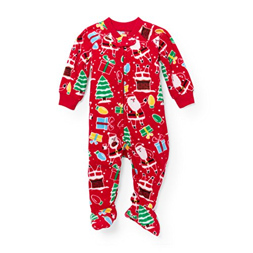 The Children's Place Baby Christmas Long Sleeve One-Piece Pajamas, Ruby 20 91755, ()