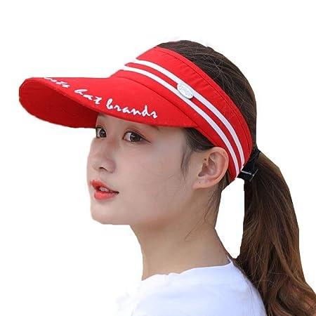 GTRHGTYH Gorra Deportiva for Mujer, ala Ancha sin Top Sun Hat ...