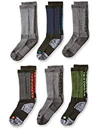 New Balance Big Boy's 6 Pack Athletic Crew Socks