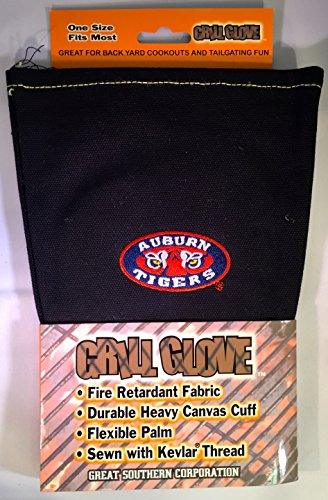 NCAA Auburn University Tigers Fire Retardant Grill Glove - Sewn with Kevlar Thread - Great for Tailgating! ()