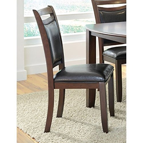 Coaster 105472 Home Furnishings Side Chair (Set of 2), Dark Brown - Brown Cherry Dining Chairs