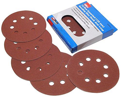 Hilka 68808015 125mm Assorted Hook and Loop Sanding Disc