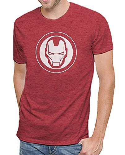 Marvel Iron Man Mask Logo Mens T-shirt (Large)