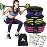 Benificer Booty Resistance Band Hip Exercise Bands Fitness Circle Loop Bands for Legs and Butt - Glute Strengthening Workout for Women and Men, Non Slip with a Low, Medium, Heavy Fabric Band Set of 3