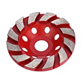KKmoon 100mm 4'' Diamond Segment Grinding Wheel Disc Bowl Shape Grinder Cup Concrete Granite Masonry Stone Ceramics Terrazzo Marble for Building Industry