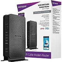 NETGEAR C3000-100NAS N300 (8x4) Enrutador de módem por cable DOCSIS 3.0 WiFi (C3000) certificado para Xfinity de Comcast, Spectrum, Cox, Cablevision y más