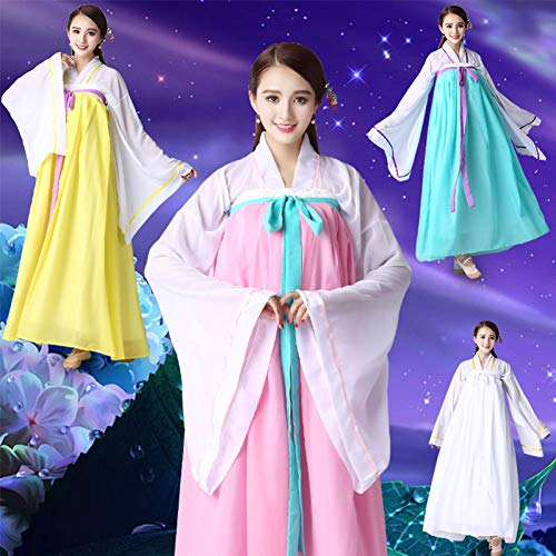 WHFDHF Dress Volwassen Vrouwen Nationale Kostuum Korea Oude Hanfu Kleding Dame Lange Mouwen Losse Plus Size Cosplay Jurken Zh12001