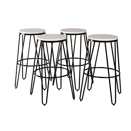 Kate and Laurel Tully Backless Modern Wood and Metal 30