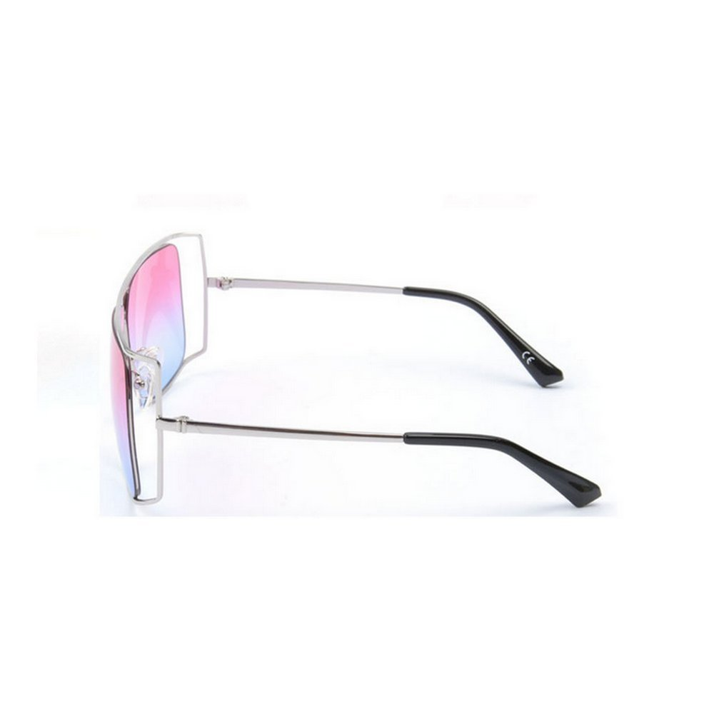 MINCL//Unisex Oversized Stylish Cut-out Color And Clear Lens Sunglasses