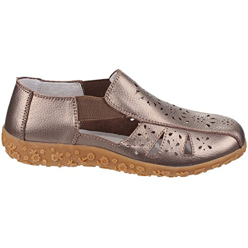 Fleet And Foster Womens/Ladies Grigio Slip On Summer Shoes Bronze