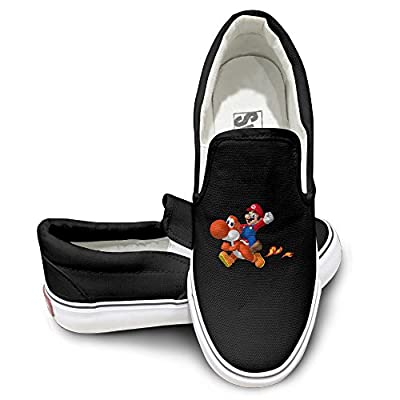 Harriy Super Marioe Unisex Athletic Flat Canvas Sneaker Shoes Black