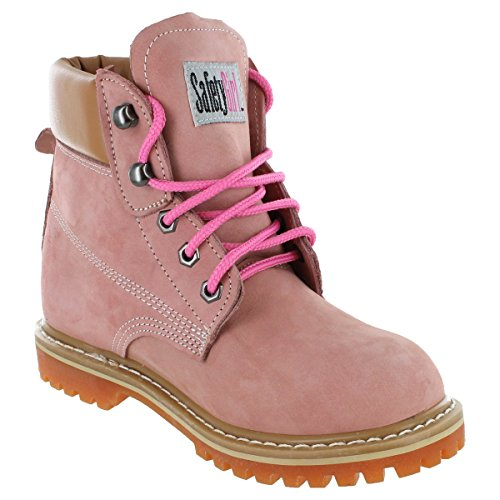 Safety Girl GS004-LTPNK-8M Safety Girl II Soft Toe Work Boots - Pink - 8M, English, Capacity, Volume, Leather, 8M, Pink () by Safety Girl (Image #3)