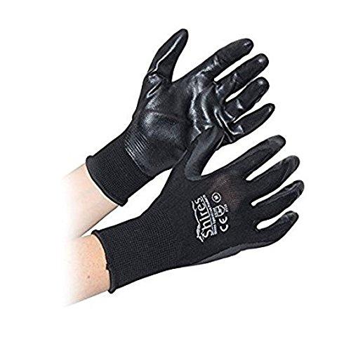 Purpose All Gloves (Shires All Purpose Yard Gloves - Black/Black - Medium)