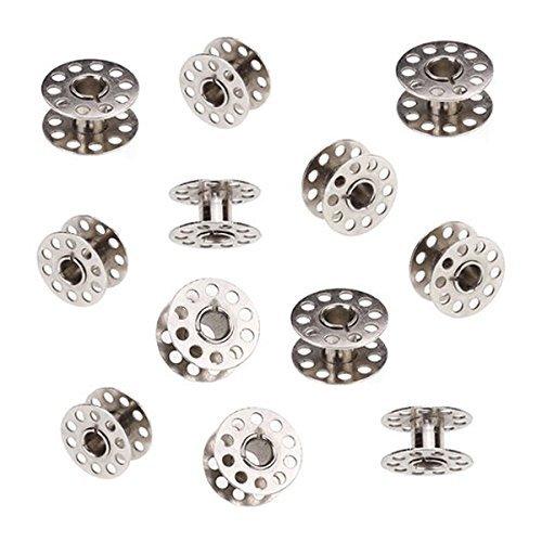 (Tinksky 20pcs 20mm Diameter Sewing Machine Metal Bobbins(Silver))