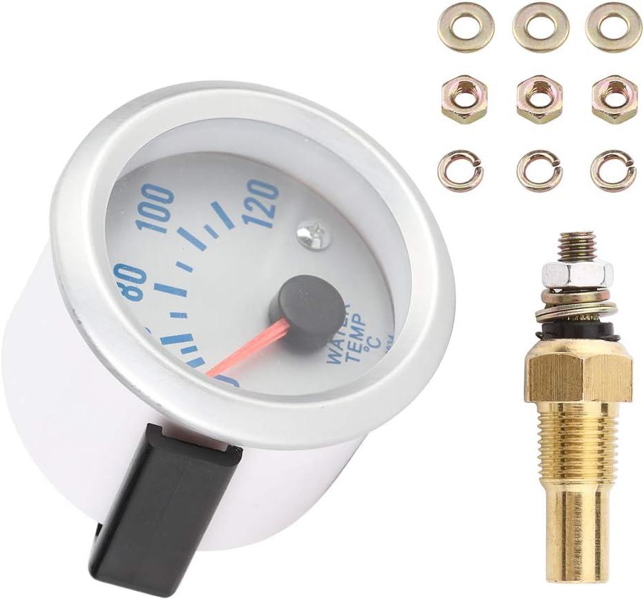 Gamma iFCOW Misuratore di Temperatura Dellacqua 52Mm 2 Motore Universale per Auto Digitale Blu Led Indicatore Della Temperatura Dellacqua 40-120
