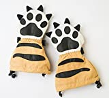 Veyo Kids - Tiger Paw Mittyz - Waterproof Kids Mittens   Toddler Gloves   Easy on, Stay on,   Perfect for Snow Skiing, Sledding, and Winter Play (Small 6 Months - 2 Years)