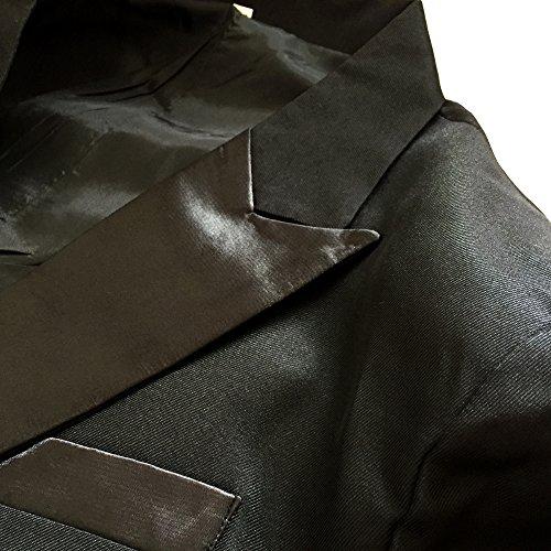 e85eb133c6bca アンダブル) AnW タキシード 黒 衣装 司会 舞台 二次会 スーツ 上下 5点 ...