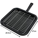 SPARES2GO Small Square Grill Pan, Rack & Detachable Handle for Arrow Oven Cookers
