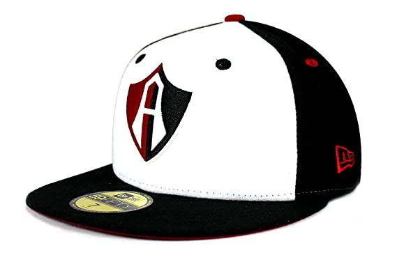 NEW ERA 59Fifty Hat Guadalajara Atlas Soccer Club Mexican League Fitted Black / White Cap (