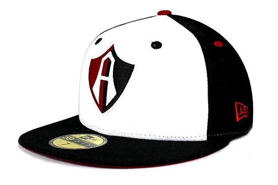 6181b25a680a8 NEW ERA 59Fifty Hat Guadalajara Atlas Soccer Club Mexican League Fitted  Black   White Cap (