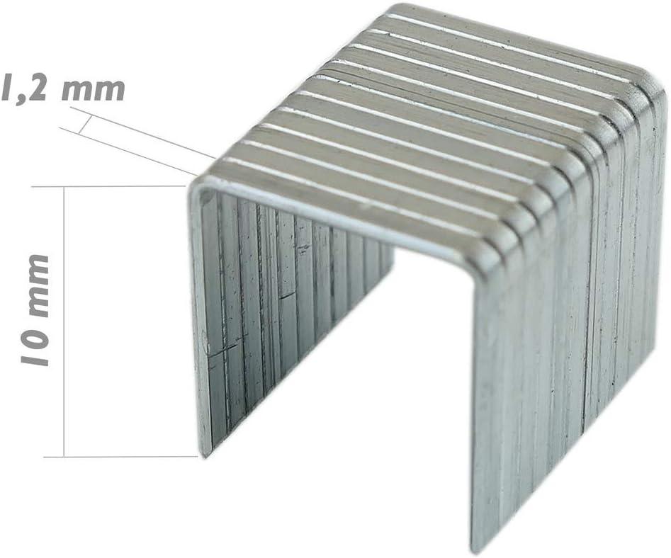 Tolsen Recambio de Grapas 10x1.2 mm 1000pcs de Herramientas