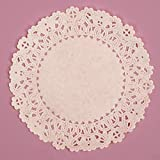 6 Inch Round White Normandy Lace Paper Doilies 100 Count