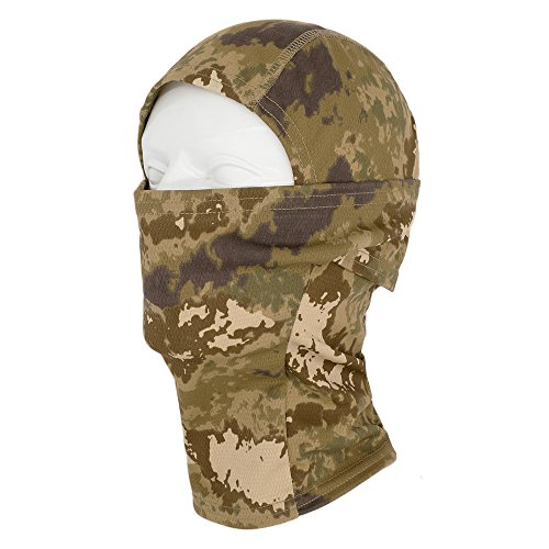 Mask Usa Paintball - TClian Camouflage Balaclava Hood Ninja Headwear Outdoor Cycling Motorcycle Hunting Military Tactical Helmet Liner Gear Full Face Mask (Desert)