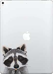 FINCIBO 5 x 5 inch Raccoon Removable Vinyl Decal Stickers for iPad MacBook Laptop (Or Any Flat Surface)
