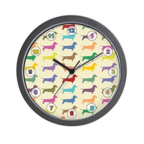 CafePress - Dachshunds, Dachshunds, Dachs Wall Clock - Unique Decorative 10