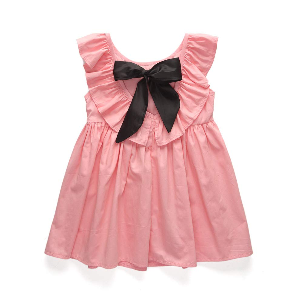 Vestido de Princesa Falda con Bow Plisado con Volantes Traje ...