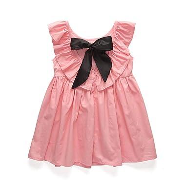 Vestido De Princesa Falda Con Bow Plisado Con Volantes Traje