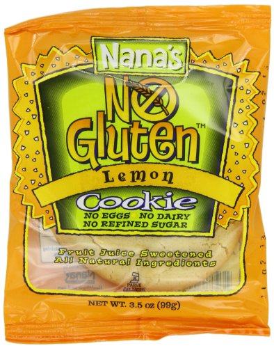 Nana's Gluten Free Cookie Lemon Cookies, 3.5-Ounce Packages (Pack of 12)