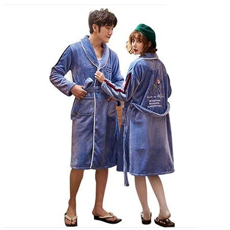 Bathrobe NAN liang Women Nightgown Long Cardigan Couple Men s V-Neck Pajamas  (4 sizes) (Size   Xl)  Amazon.co.uk  Kitchen   Home f50978329